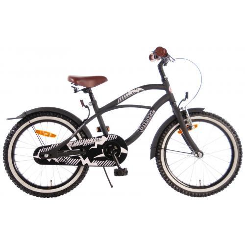 Volare Black Cruiser Børnecykel - Drenge - 18 tommer - Sort - 95% samlet