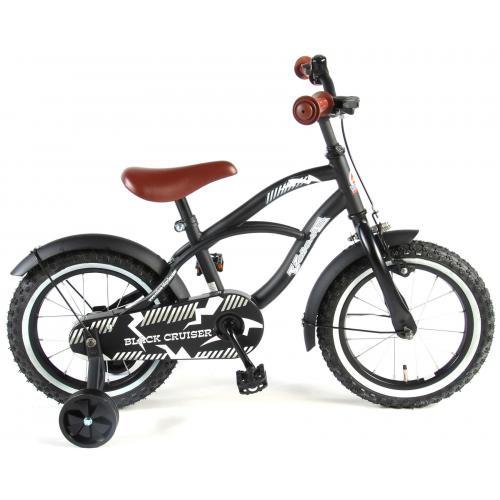 Volare Black Cruiser Børnecykel - Drenge - 14 tommer - Sort - 95% samlet