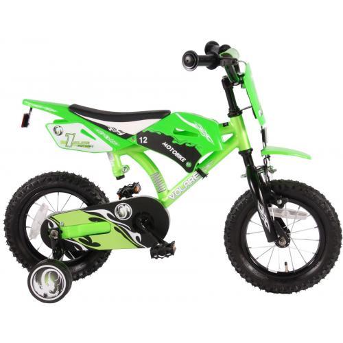Volare Motobike Børnecykel - Drenge - 12 tommer - Grøn - 95% samlet