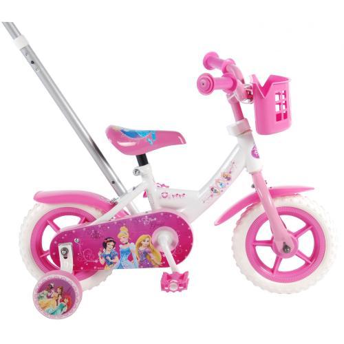 Disney Princess Børnecykel - Piger - 10 tommer - Pink / hvid