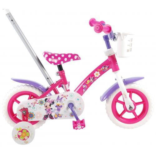 Disney Minnie Bow-tique Børnecykel - Piger - 10 tommer - Pink / hvid / lilla