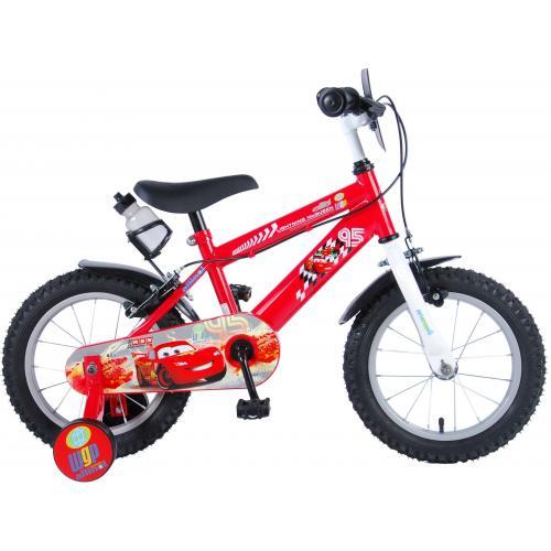 Disney Cars Børnecykel - Drenge - 14 tommer - Rød - 2 håndbremser