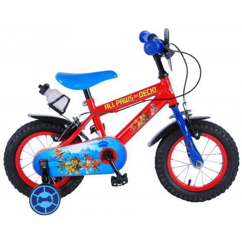 Paw Patrol Børnecykel - Drenge - 12 tommer - Rød / blå - 2 håndbremser