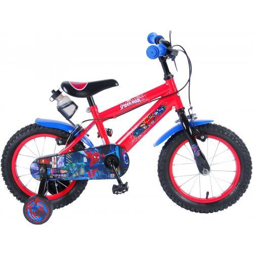 Ultimate Spider-Man Børnecykel - Drenge - 14 tommer - Rød Sort - 2 håndbremser