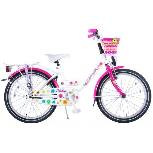 Volare Ashley Børnecykel - Piger - 20 tommer - Hvid / lyserød - 95% samlet