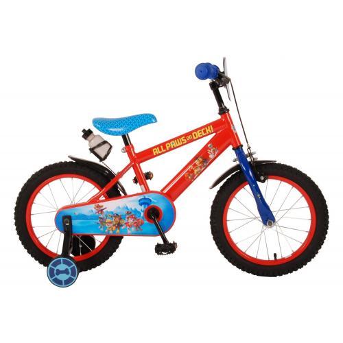 Paw Patrol Børnecykel - Drenge - 16 tommer - Rød blå