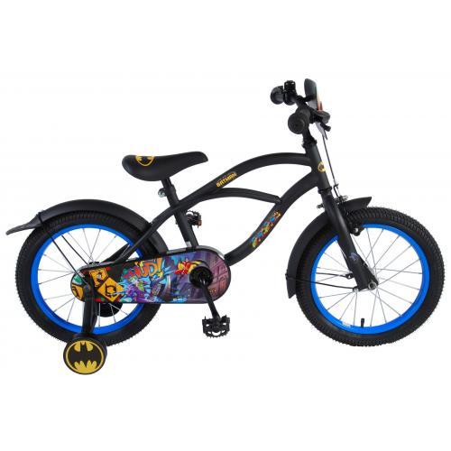 Batman Børnecykel - Drenge - 16 tommer - Sort