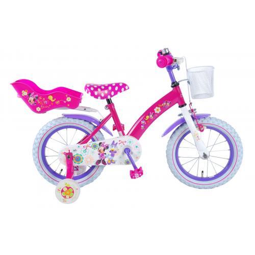 Disney Minnie Bow-Tique Børnecykel - Piger - 14 tommer - Pink - 95% samlet