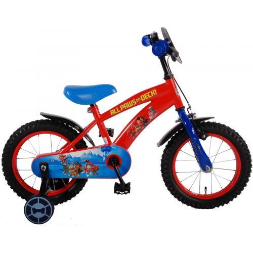 Paw Patrol Børnecykel - Drenge - 14 tommer - Rød blå - 95% samlet