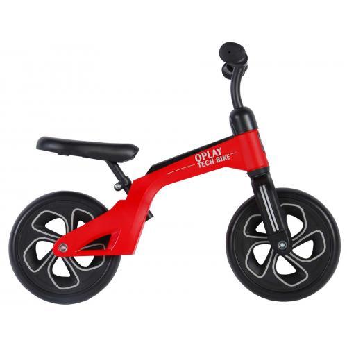 QPlay Tech Balance Bike - Drenge og piger - 10 tommer - Rød