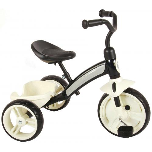 QPlay Elite-trehjuling - Drenge og piger - Sort