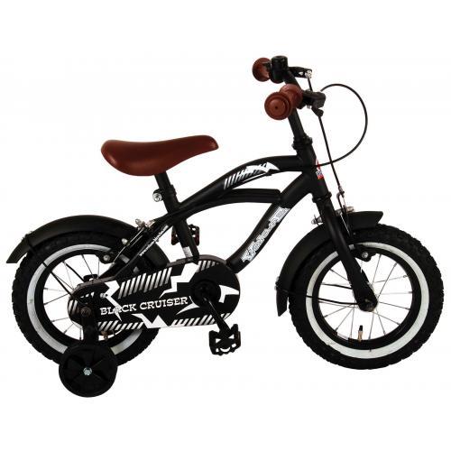 Volare Black Cruiser Børnecykel - Drenge - 12 tommer - Sort - to håndbremser