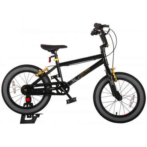Volare Cool Rider Børnecykel - Drenge - 16 tommer - Sort - to håndbremser - 95% samlet