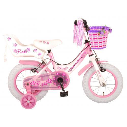 Volare Rose Børnecykel - Piger - 12 tommer - Pink - 2 håndbremser