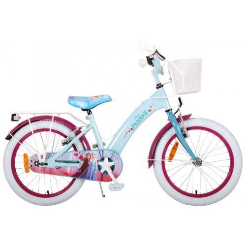Disney Frozen 2 Børnecykel - Piger - 18 tommer - Blå / lilla - 2 håndbremser