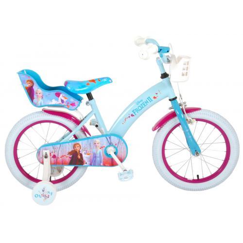 Disney Frozen 2 - Børnecykel - Piger - 16 tommer - Blå / lilla