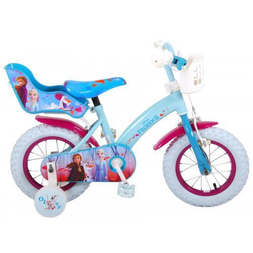 Disney Frozen 2 Børnecykel - Piger - 12 tommer - Blå / lilla