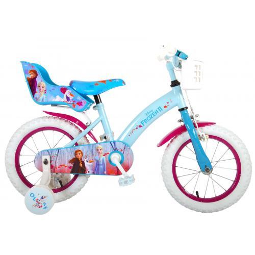 Disney Frozen 2 Børnecykel - Piger - 14 tommer - Blå / lilla