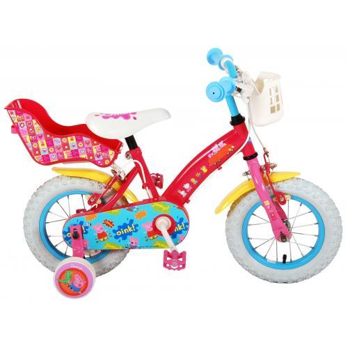 Peppa Pig Børnecykel - Piger - 12 tommer - Pink - 2 håndbremser
