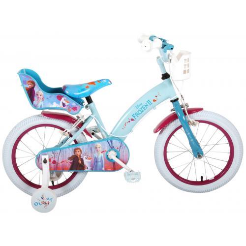 Disney Frozen 2 - Børnecykel - Piger - 16 tommer - Blå / lilla - 2 håndbremser