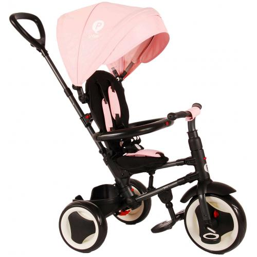 QPlay Tricycle Rito 3 in 1 - Piger - Pink - Deluxe