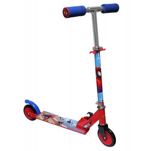 Spiderman Inline Scooter - Børn - rød blå