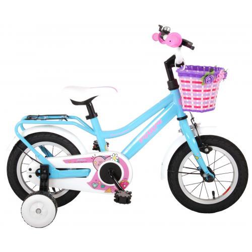 Volare Brilliant Børnecykel - Piger - 12 tommer - blå - 95% samlet
