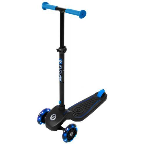 QPlay Future Scooter - Drenge og piger - Sort med blå - LED-belysning