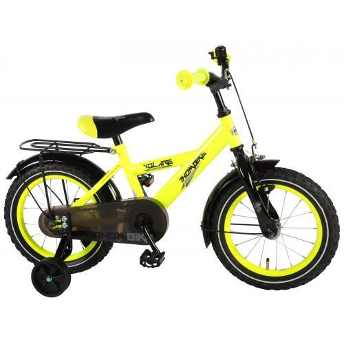 Volare Thombike Børnecykel - Drenge - 14 tommer - Neon Gul - 95% samlet