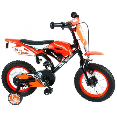 Volare motorcykel Børnecykel - Drenge - 12 tommer - Orange - 95% samlet