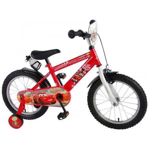 Disney Cars Børnecykel - Drenge - 16 tommer - Rød