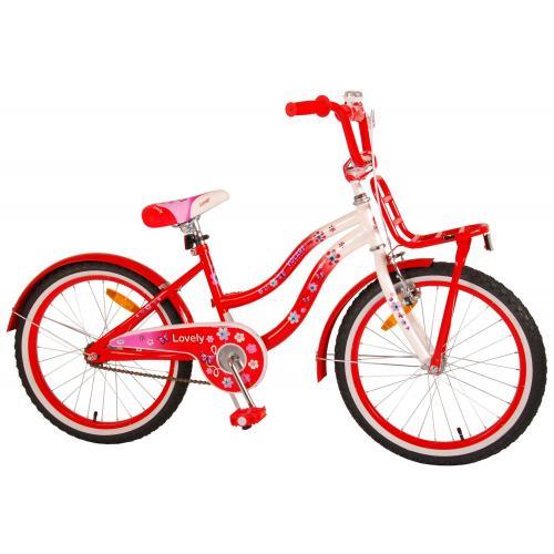 Volare dejlige børns cykel - piger - 20 tommer - rød hvid - 95% samlet