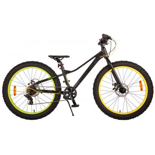 Volare Gradient Børnecykel - Drenge - 24 tommer - Sort grøn gul - 7 gear - Prime Collection