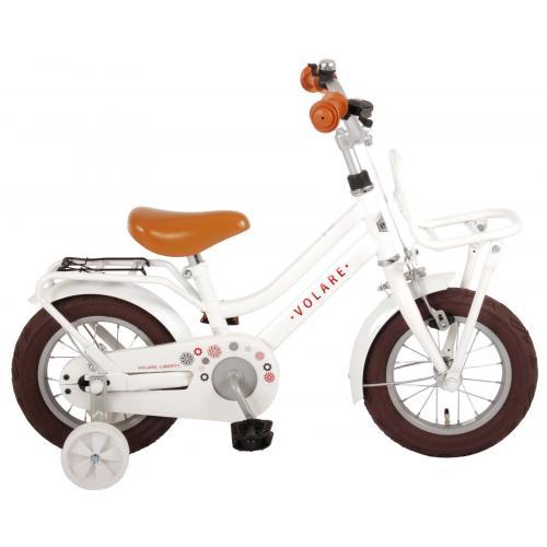 Volare Liberty Børnecykel - Piger - 12 tommer - Hvid - 95% samlet