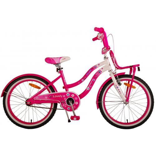 Volare dejlige børns cykel - piger - 20 tommer - lyserød hvid - 95% samlet