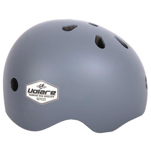 Volare Cykelhjelm - Børn - grå - 51-55 cm