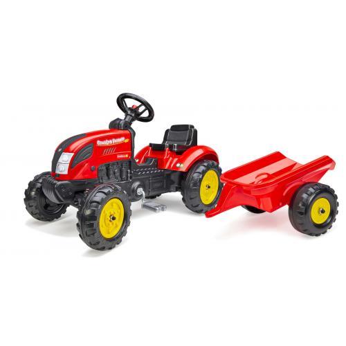 Falk Country Farmer - Drenge - Rød - Traktor