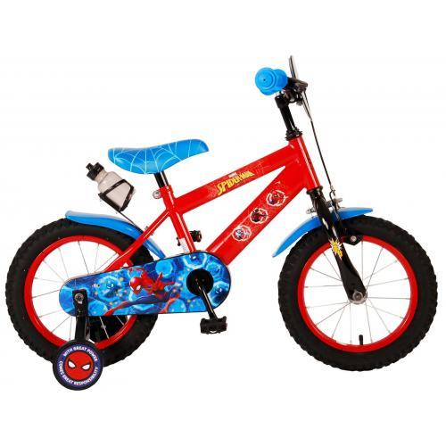 Ultimate Spider-Man Børnecykel - Drenge - 14 tommer - Rød blå