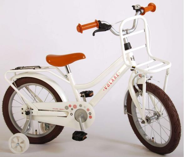 Volare Liberty Børnecykel - Piger - 16 tommer - Hvid - 95% samlet
