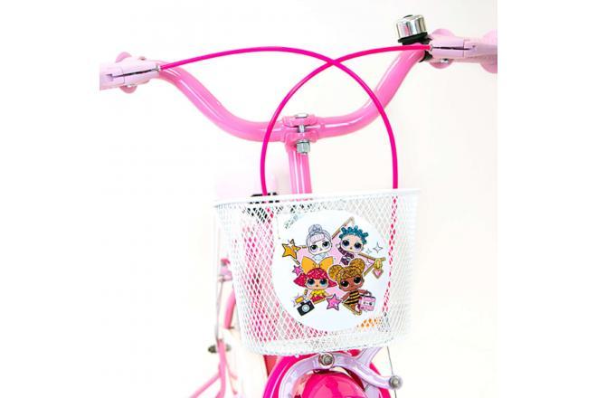 LOL Surprise Børnecykel - Piger - 16 tommer - Pink - 2 håndbremser