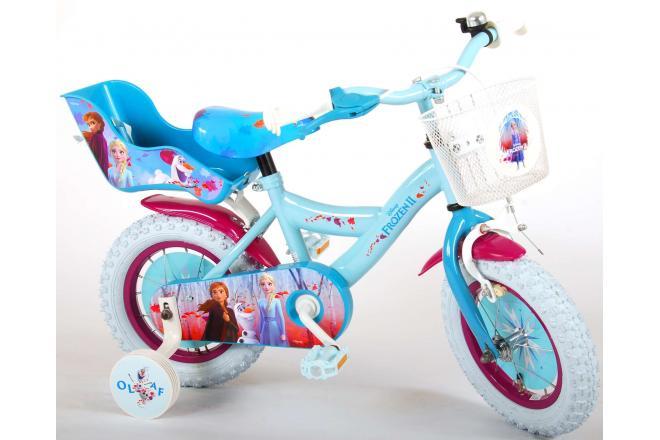 Disney Frozen 2 Børnecykel - Piger - 12 tommer - Blå / lilla - 95% samlet