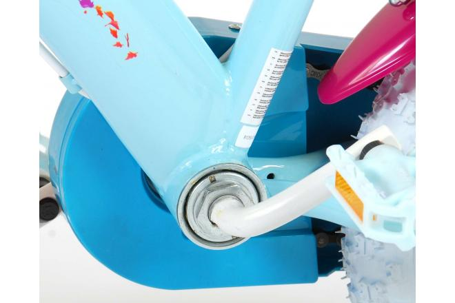 Disney Frozen 2 Børnecykel - Piger - 12 tommer - Blå / lilla - 2 håndbremser