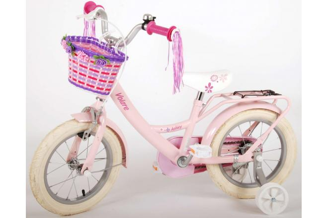 Volare Ashley Børnecykel - Piger - 14 tommer - Pink - 95% samlet