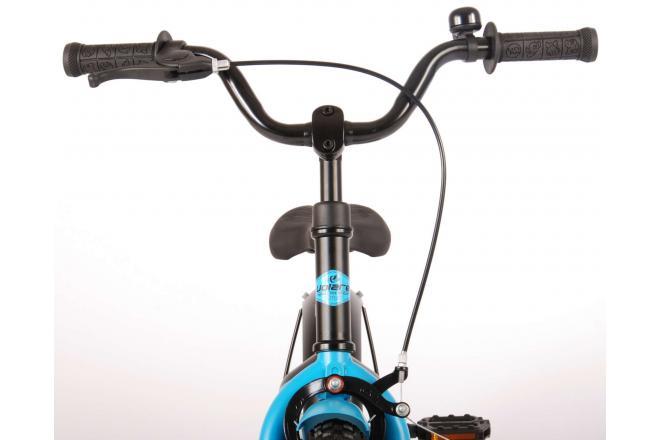 Volare Rocky Børnecykel - Drenge - 14 tommer - Sort blå - 95% samlet - Prime Collection